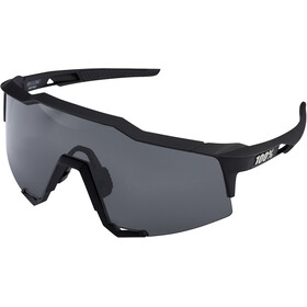 100% Speedcraft Gafas Alta, soft tact black/smoke